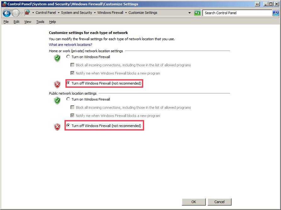 Trouble shooting firewalls — License Server 1 4 0 documentation